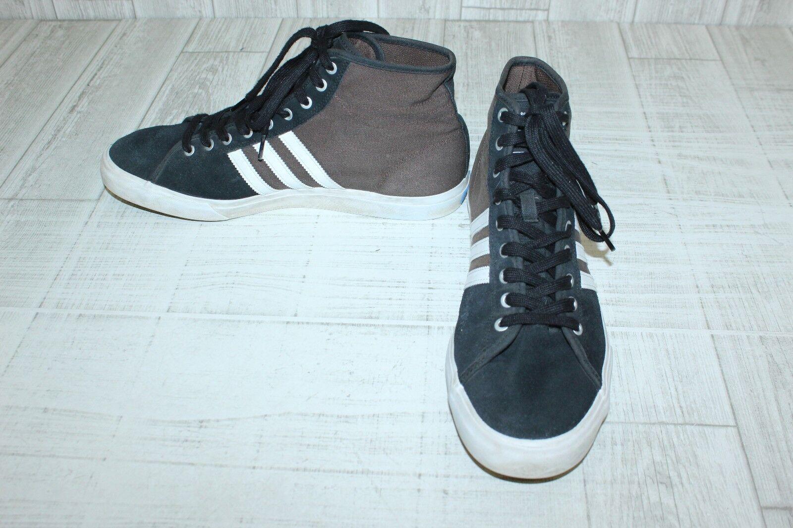 adidas Matchcourt High Rx Hi Top Skateboarding Shoes-Men's size 14 Brown/Black Wild casual shoes