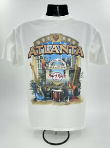Hard Rock Cafe Atlanta City Tee T-Shirt Size Adult Large Excellent Condition