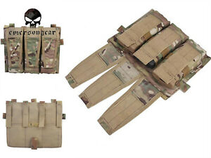 Emerson Triple Magzine Pouch Only For AVS Vest Military Combat Molle MAG Pouch