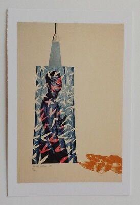 David Hockney RA Postcard Self Portrait 1954