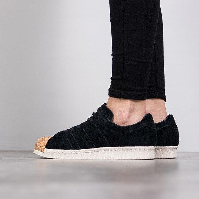 Adidas Unisexe Superstar 80 S en daim noir Liège orteil baskets velours Toutes Tailles