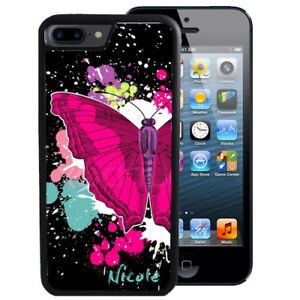 PERSONALIZED-RUBBER-CASE-FOR-iPHONE-XR-XS-MAX-8-7-6-PLUS-BUTTERFLY-SPLATTER-ART