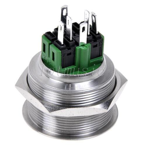 Pushbutton Switches 2 Pcs 30mm 12v Green Dot Illuminated Push ...