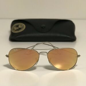 New Ray-Ban Aviator Silver Frame RB3025 019 Z2 58-14 Copper Flash ... c8e9f65eaea2