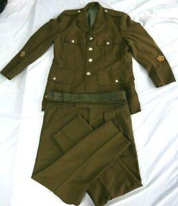 VINTAGE-AUSTRALIAN-ARMY-1960s-Ceremonial-Uniform-Jacket-Pants-and-Service-Belt