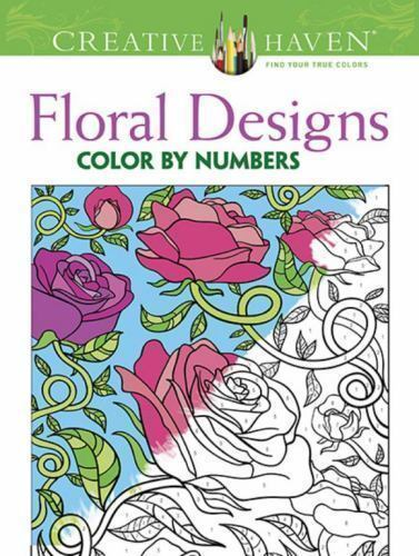 Adult Coloring Creative Haven Floral Design Color By Number