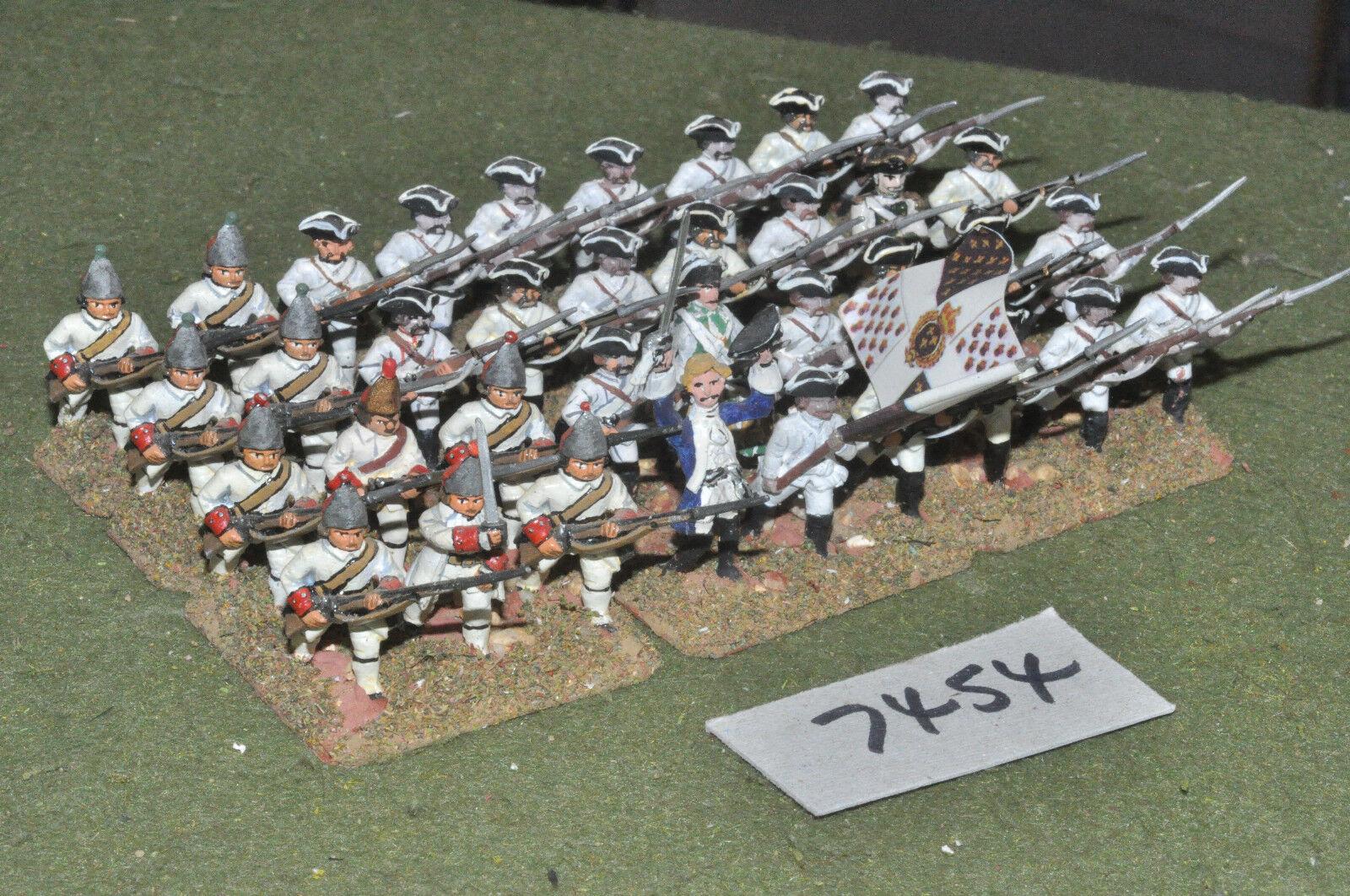 25mm 7YW Infantería de Guerra Franco-siete años 36 Figuras De Metal-INF (7454)