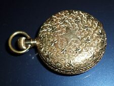 1893 AMERICAN WALTHAM 14K Gold Filled Elgin Hunter Case POCKET WATCH Stars WORKS