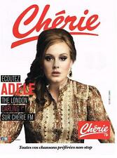 PUBLICITE ADVERTISING   2012    CHERIE FM  radio ADELE  THE LONDON DARLING