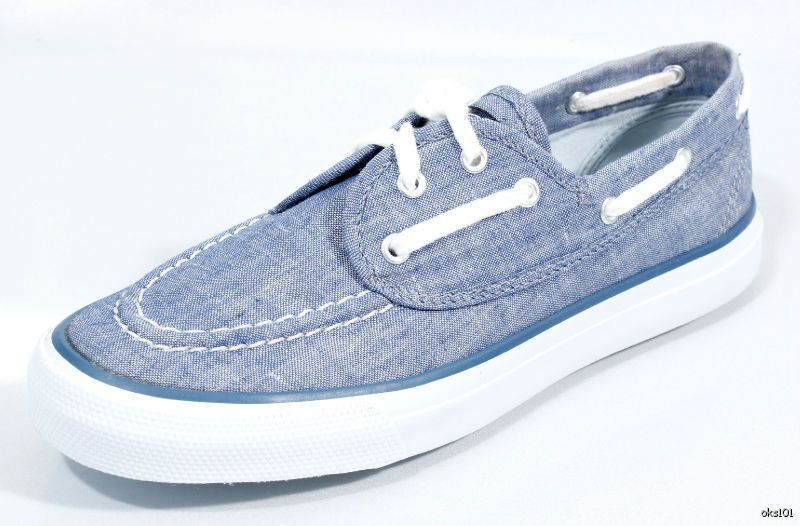 New SPERRY Top-Sider womens SeaMate bluee denim flats boat shoes 5.5