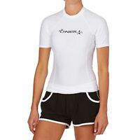 O'neill Rash Vests - O'neill Womens Basic Skins Short Sleeve Crew Rash Vest