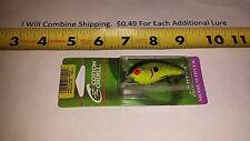 "COTTON CORDELL Big O Lure 2-1/4"" fishing lure NEW Bleeding chartreuse shad"