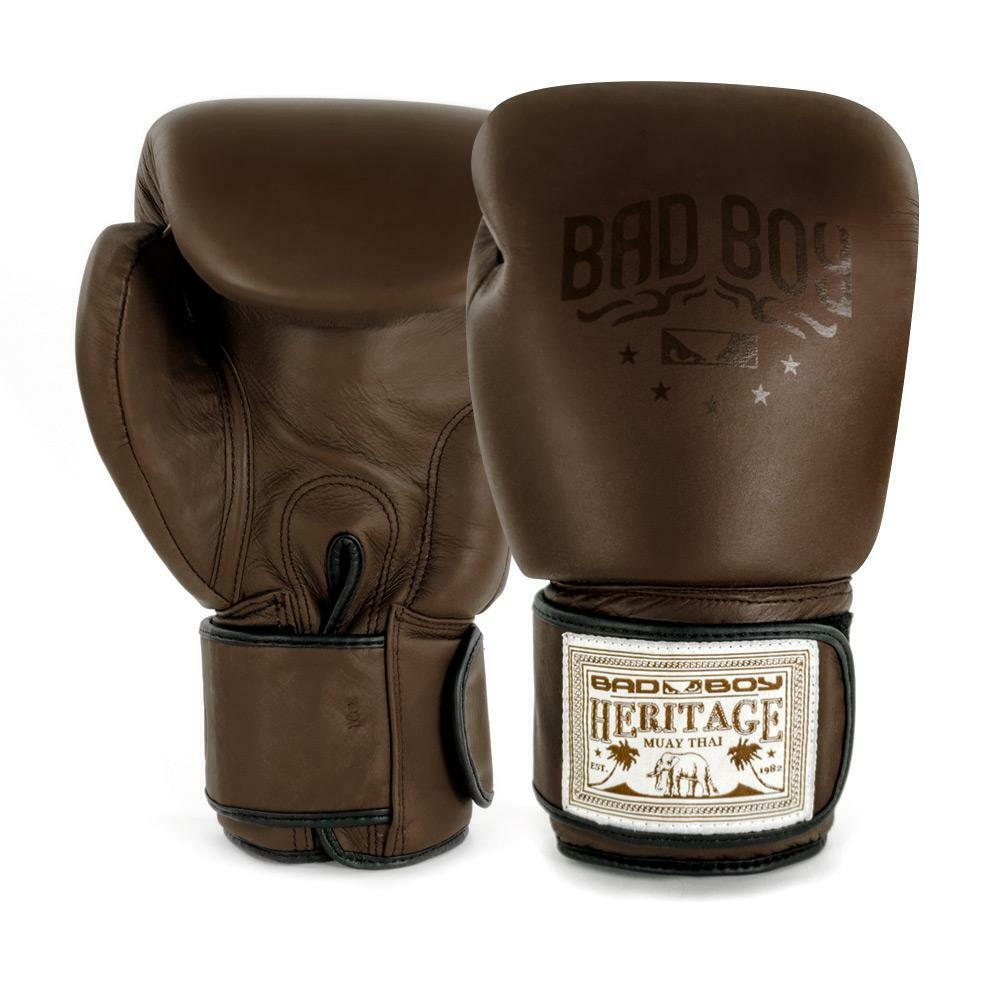 Bad Boy MMA Heritage THAI Pelle Marronee Guantoni Da Boxe Punch Guanti da Sparring