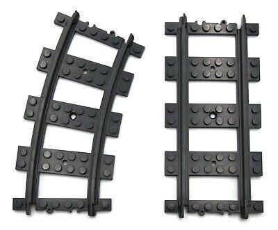 LEGO® City Set 60238 Weichen 1x Weiche links 1xWeiche rechts 4x gebogene Schiene