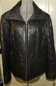 Preston-amp-York-XL-Women-039-s-Black-Lambskin-Leather-Jacket