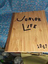 ksm. 1947 Chippewa Falls Junior High School Junior Life Unused  Brown Binding