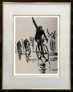 BEAU-DESSIN-SPORTIF-DE-COLLECTION-CYCLISME-ETAPE-DU-TOUR-DE-FRANCE-1950-4