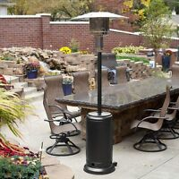 Gunmetal Commercial Restaurant Outdoor Patio Heater LP Propane Deck Tall Gas BTU