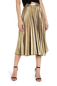 NEW-Bardot-Wild-Hearts-Skirt-Gold