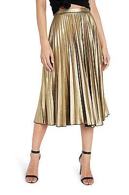 NEW Bardot Wild Hearts Skirt Gold