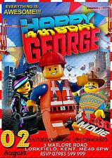 NUOVO Inviti Per Festa Di Compleanno Personalizzati Lego Movie 8 biglietti A6