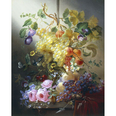 PAINTING STILL LIFE KHRUTSKY FLOWERS FRUITS ART PRINT POSTER PICTURE LF756