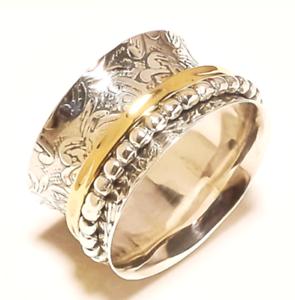 Solide Argent Sterling 925 Spinner Ring Bague Méditation Statement Ring Taille st548
