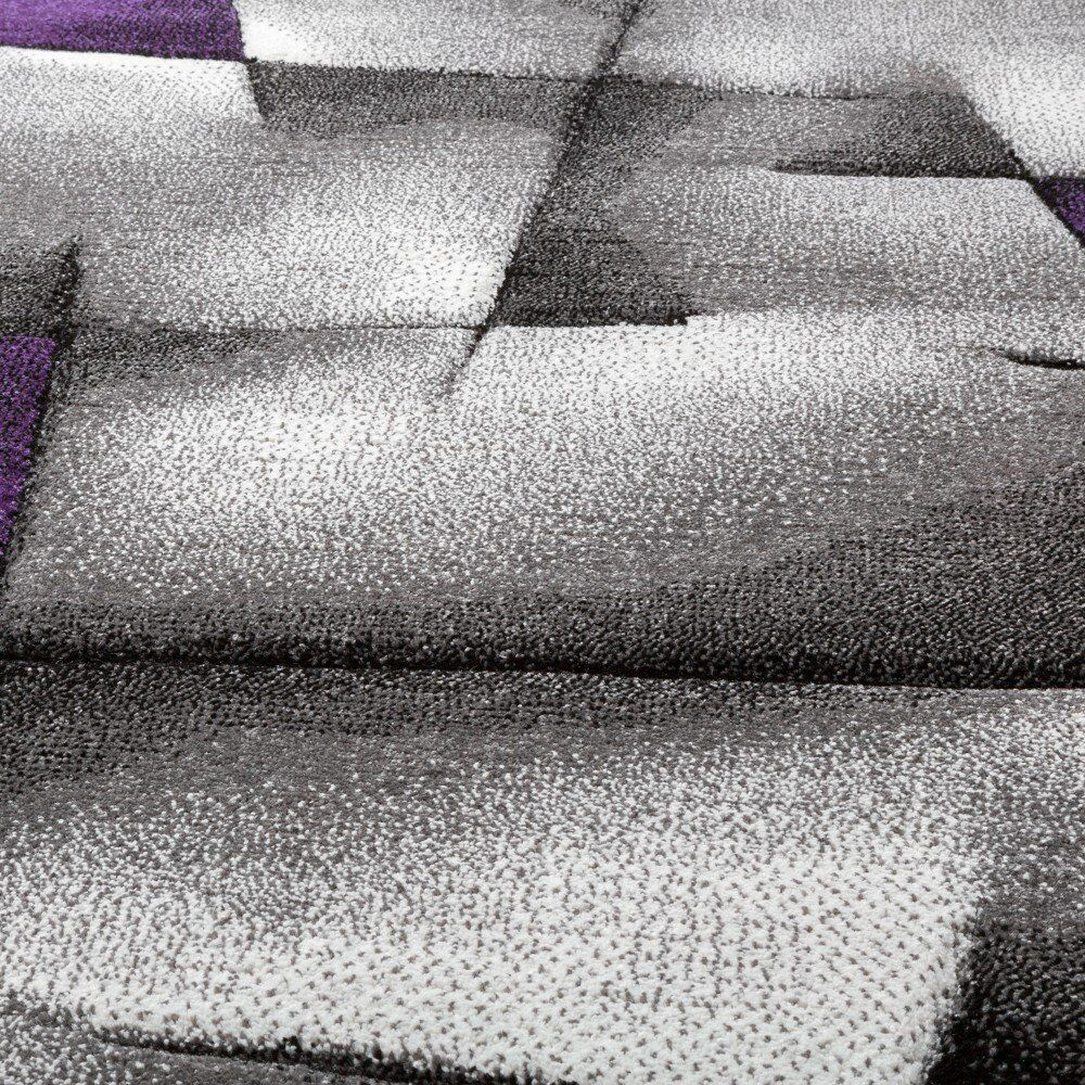 Purple Grey Patterned Rug Abstract Abstract Abstract design Living Room Bedroom Carpet Small Large | Online Shop