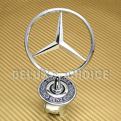 LOGO HOOD BONNET W140 S320 S420 S500 EMBLEM SPRING MOUNTED for MERCEDES BENZ
