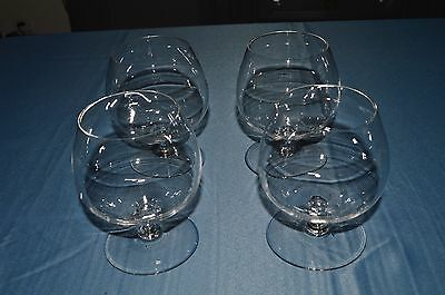 4 Bei Bicchieri In Cristallo / Il Vetro Ha Degustazione / Cognac / Vino Sentirsi A Proprio Agio