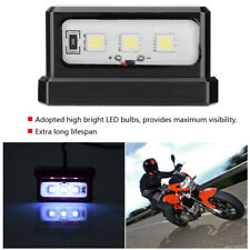 Universal Motorcycle License Plate Tail LED Light For All Motor Brand Models NEW