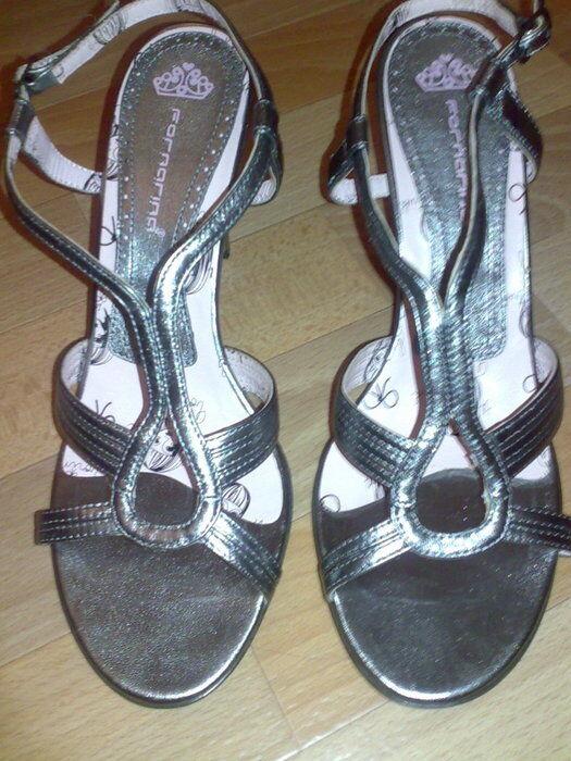Fornarina Sandaletten High Heels Leder Silber Silber Silber Gr. 41 098dd9