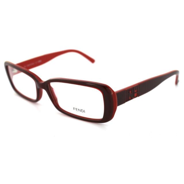 Fendi Frames Glasses 768 603 Bordeaux Inside Red   eBay