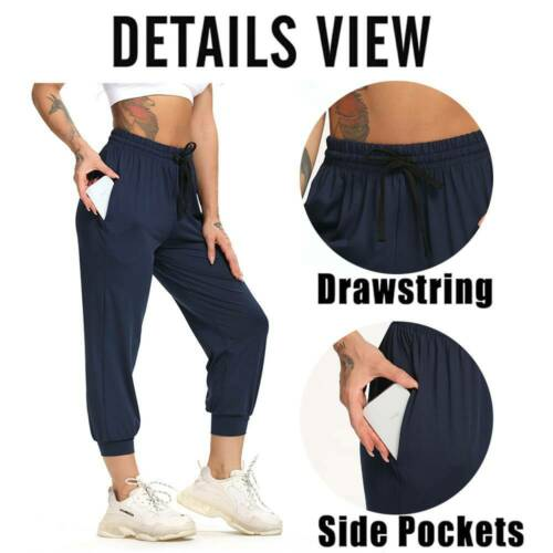 Women/'s Joggers Trousers Ladies Casual Tracksuit Bottom Sports Jogging Gym Pants