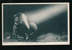 Military-USA-WW1-60-inch-Searchlight-DESERT-TRAINING-early-PPC