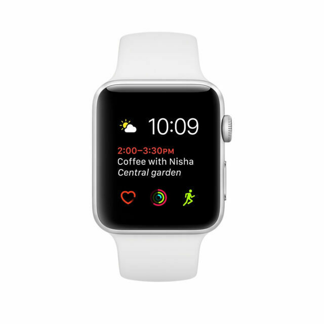Apple Watch Series 1 38mm Aluminum Case White Sport Band Smart Watch Mnng2ll A For Sale Online Ebay