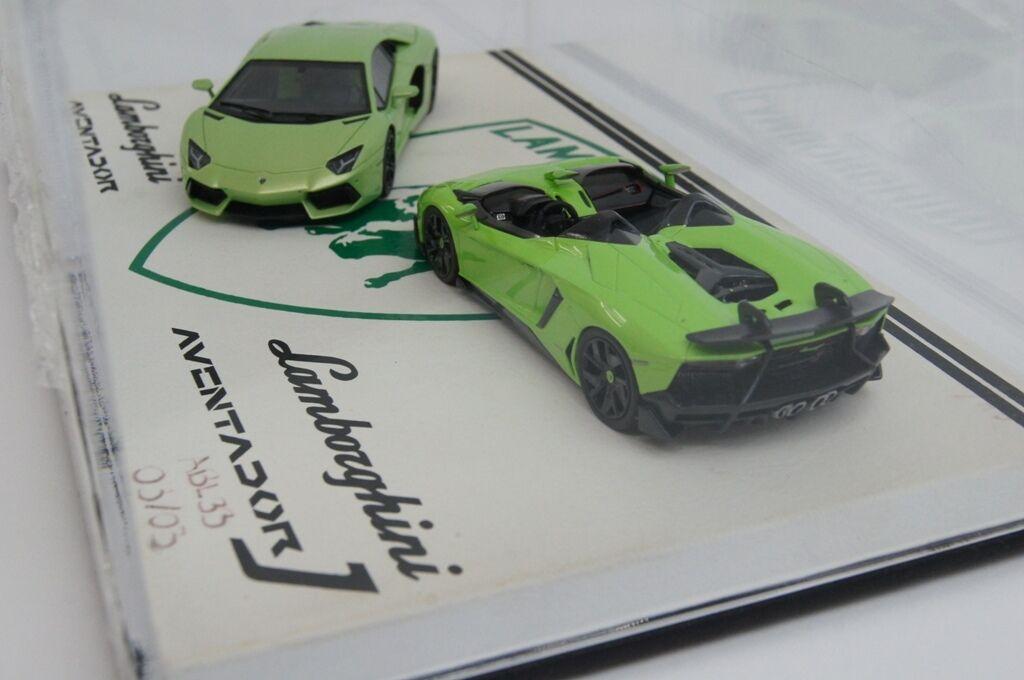 ABL33 1 43 LOOKSMART Lamborghini Aventador J J J Aventador Itacha Green two car set bbbabf