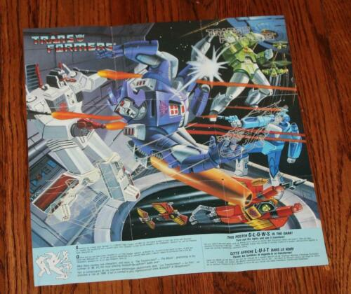 1986 Transformers G1 Galvatron GLOW IN THE DARK Affiche bi-lingual canadien