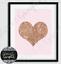 Fashion Rose Gold Heart Pink beauty room bedroom office decor Wall Art print