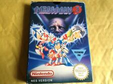 Nintendo Nes Game Cart Mega Man 3 Complete Boxed Rare Pal region