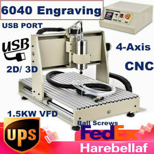 4 Axis Cnc 6040z Router Engraving Machine Engraver Woodworking 1500w Vfd Usb