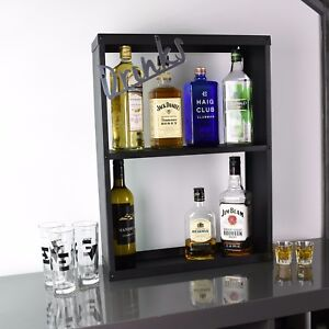 Home Bar Drinks Alcohol Shelving Unit Gin Vodka Whisky Scotch Rum
