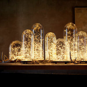 20-30-50-Micro-LED-stringhe-a-batteria-filo-d-039-argento-Lucine-Natale-Festa