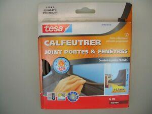 tesa-Moll-Fensterdichtung-Tuerdichtung-braun-E-Profil-Classic-1-3-5mm-9mm-6m