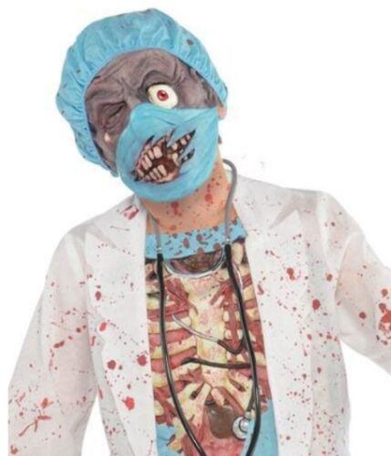 Masque 128-164 * Zombie Scary enfants médecin chirurgien DOKTER parfaitement Halloween Costume