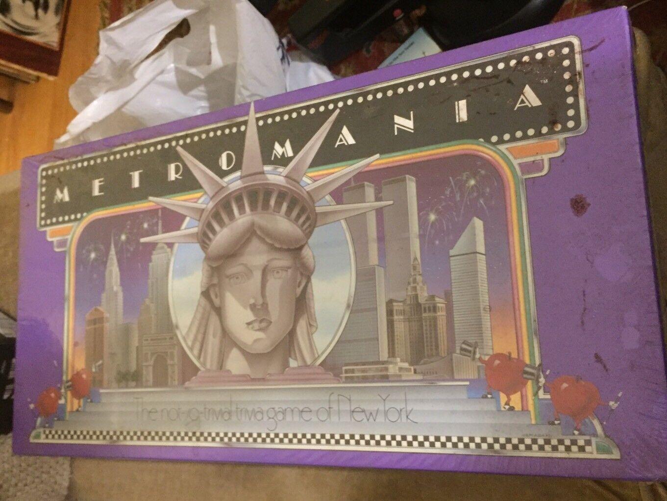 1985 Metromania 1st Ed New York City Board Game Sealed w  1950 Subway Tokens