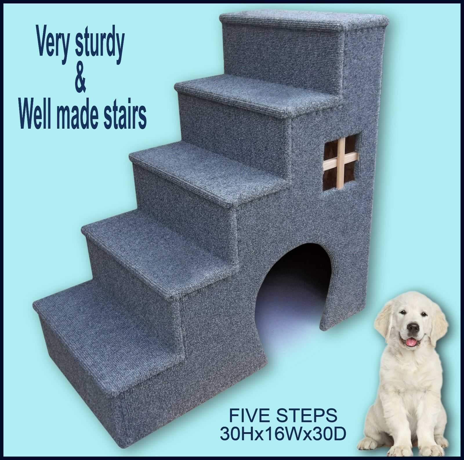 Dog stairs. Dog Supplies, Dogs steps. 30 H x 16 W x 30 D. Dog steps for bed.