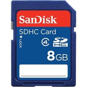 LOTTO di 50 x SanDisk 8GB SDHC Classe 4 SD Scheda di memoria flash fotocamera SDSDB - 008G-B35