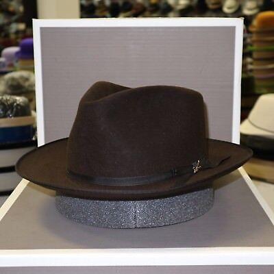 STETSON STRATOLINER CARIBOU FUR FELT C-CROWN DRESS HAT