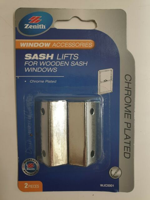 Sash Lifts for wooden windows Pk2 Chrome Plated Zenith